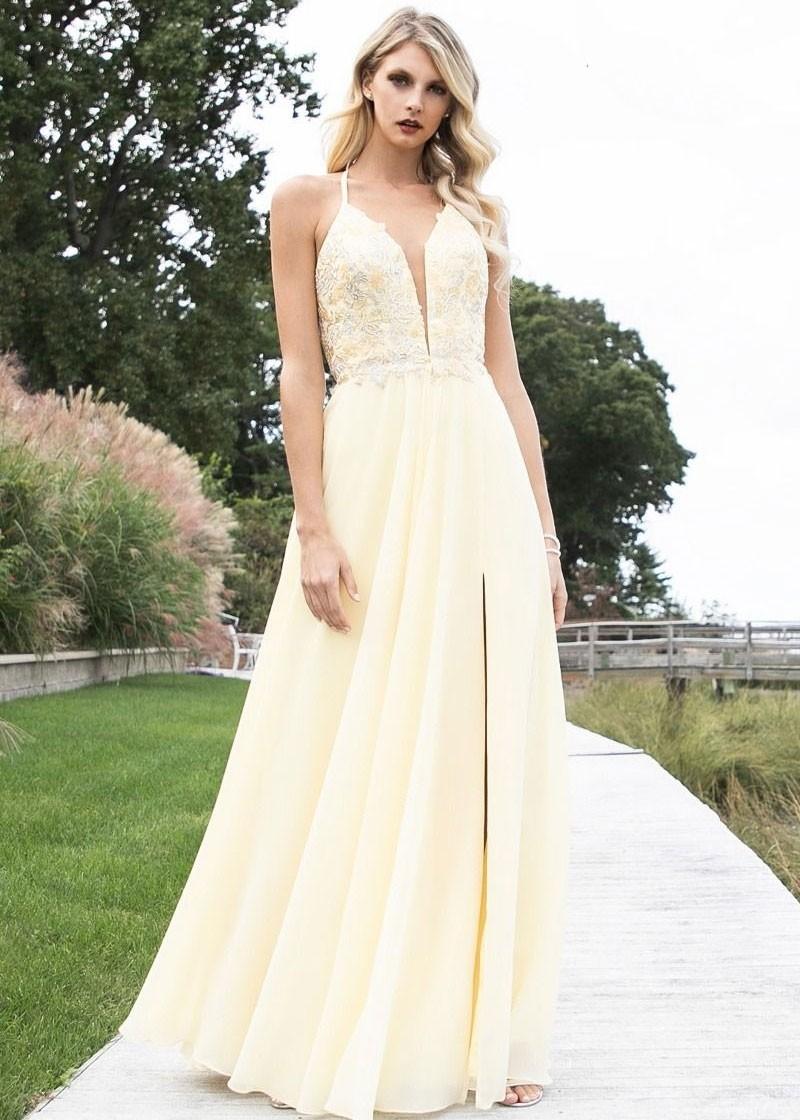 f4162e90a12 Faviana 10201 Dreamy Embroidered Chiffon Gown