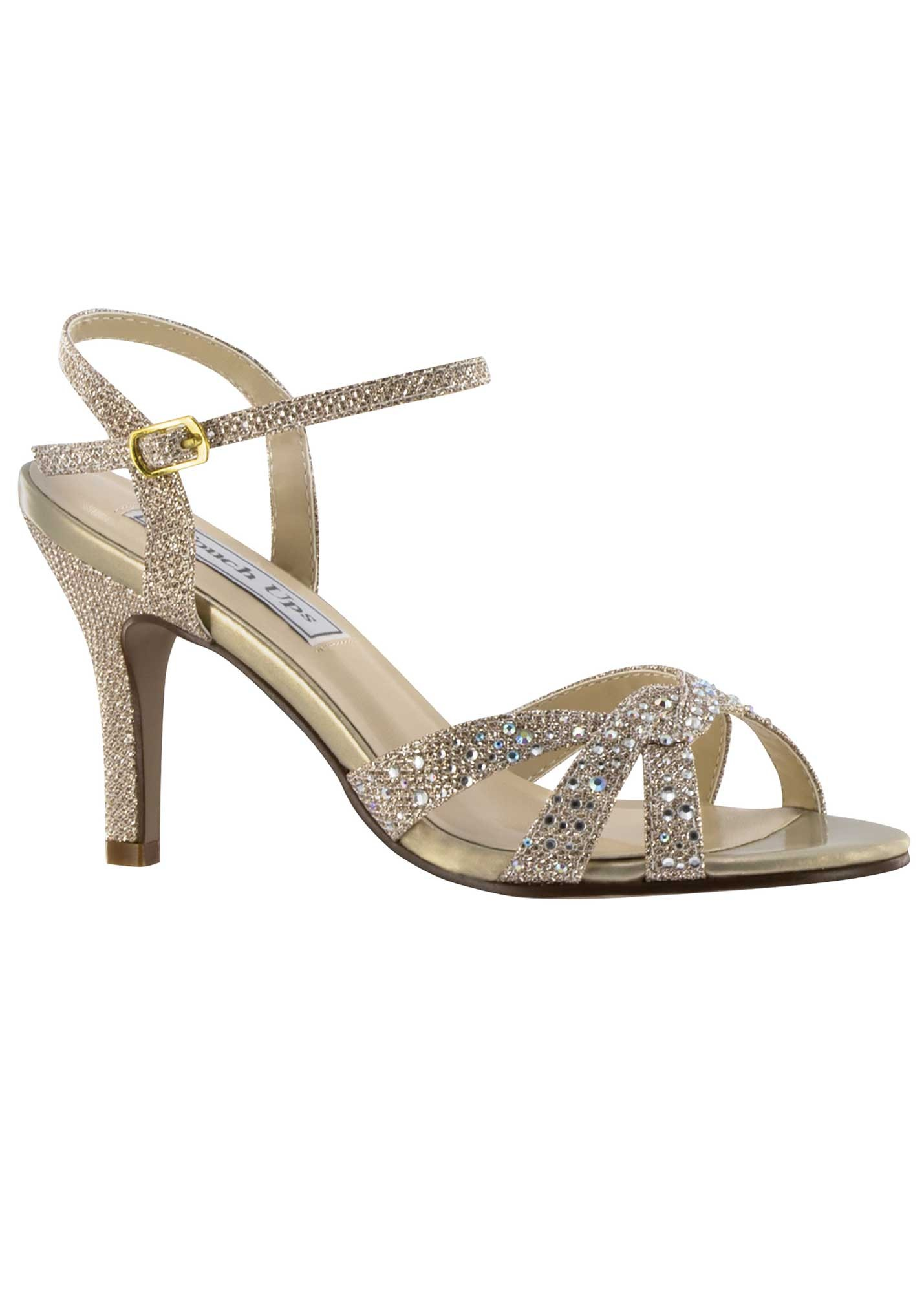 Prom Shoes Silver Low Heel