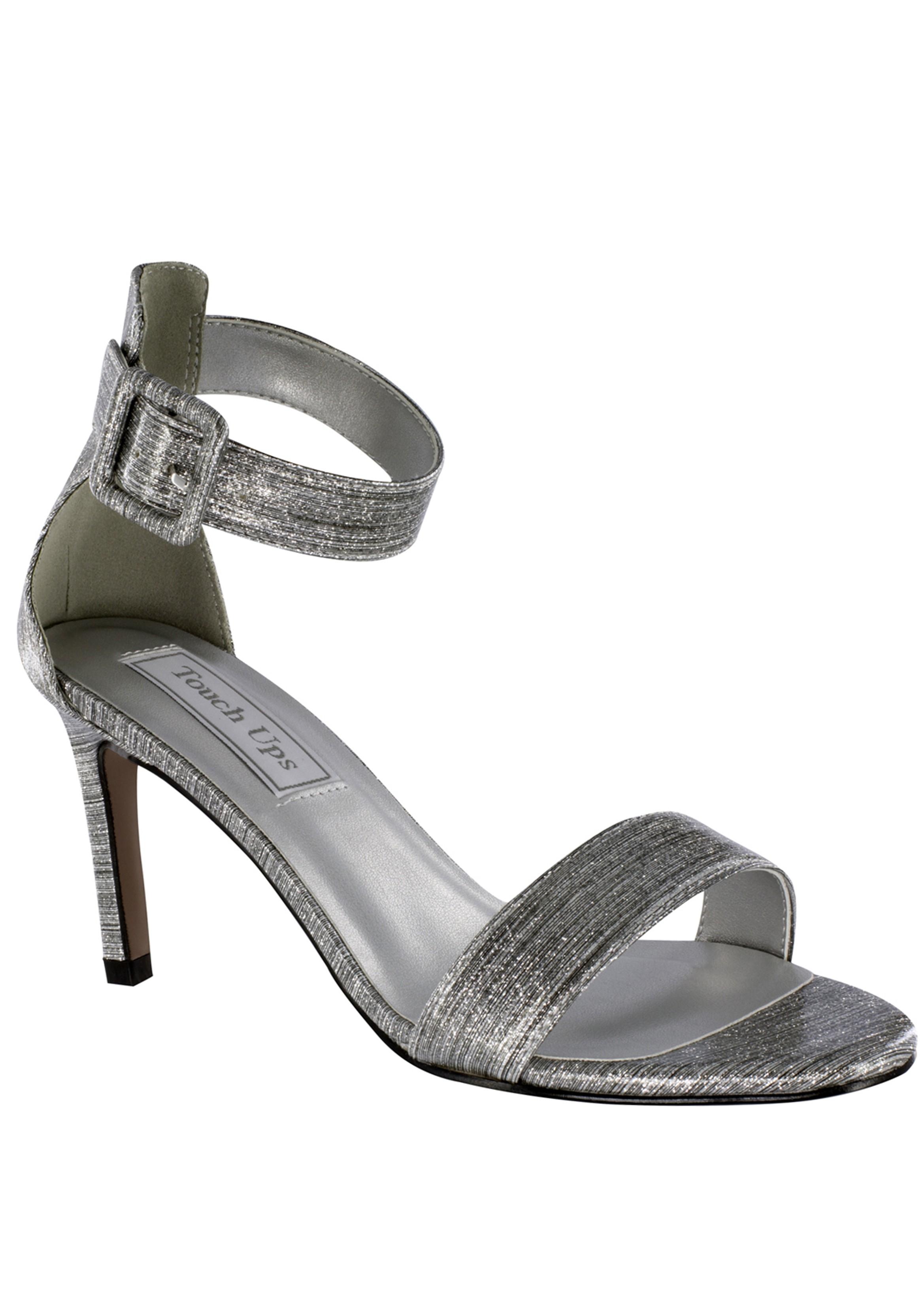 96ddbd887ec Brenda Silver Ankle Strap Sandal