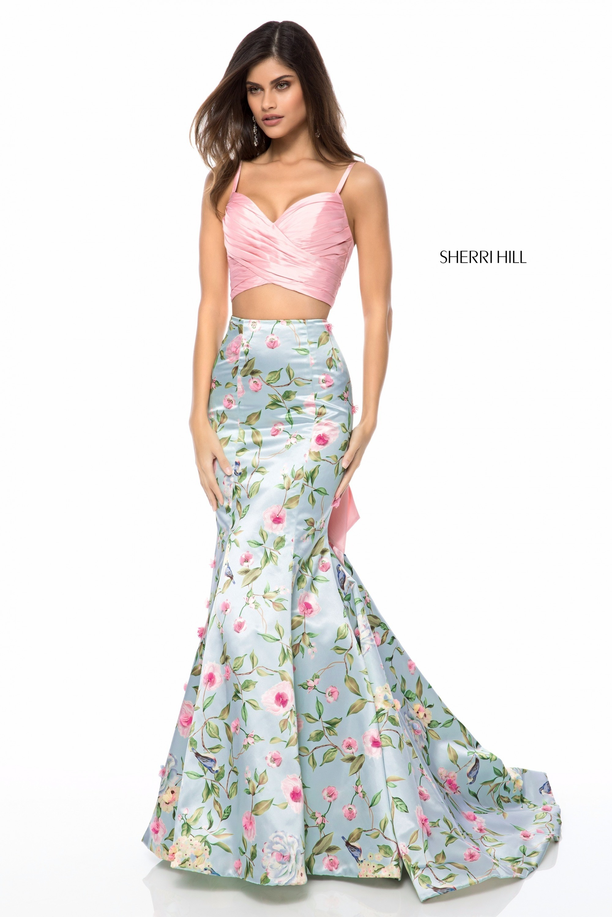 478fee927d2 Sherri Hill 51943 Floral Two-Piece Mermaid Gown