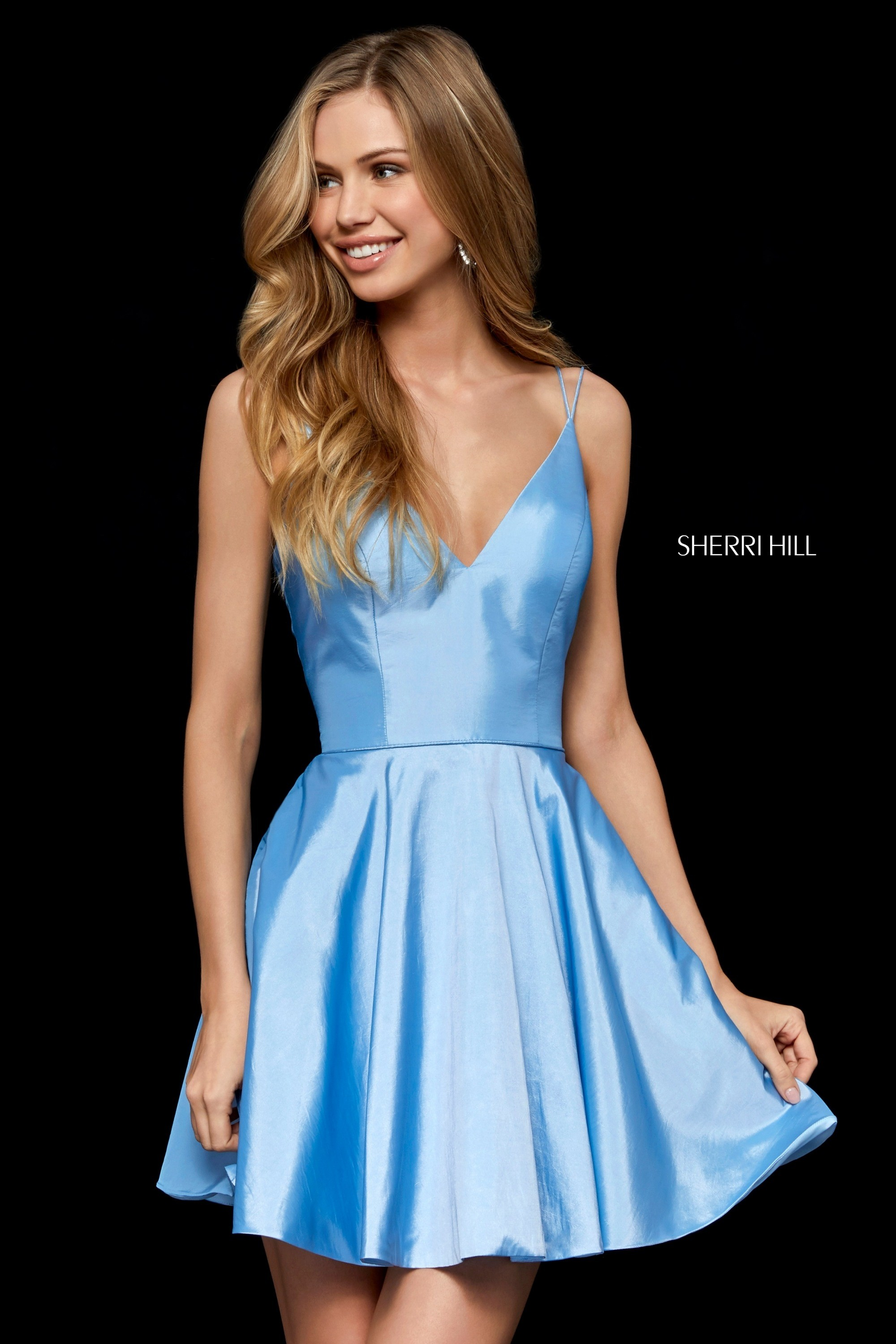 837987560afce Sherri Hill 52378 V-Neck Party Dress with Pockets