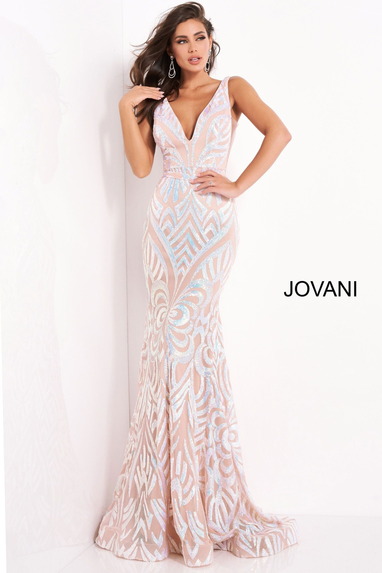 Jovani 02753 Sequin Embellished Prom Dress