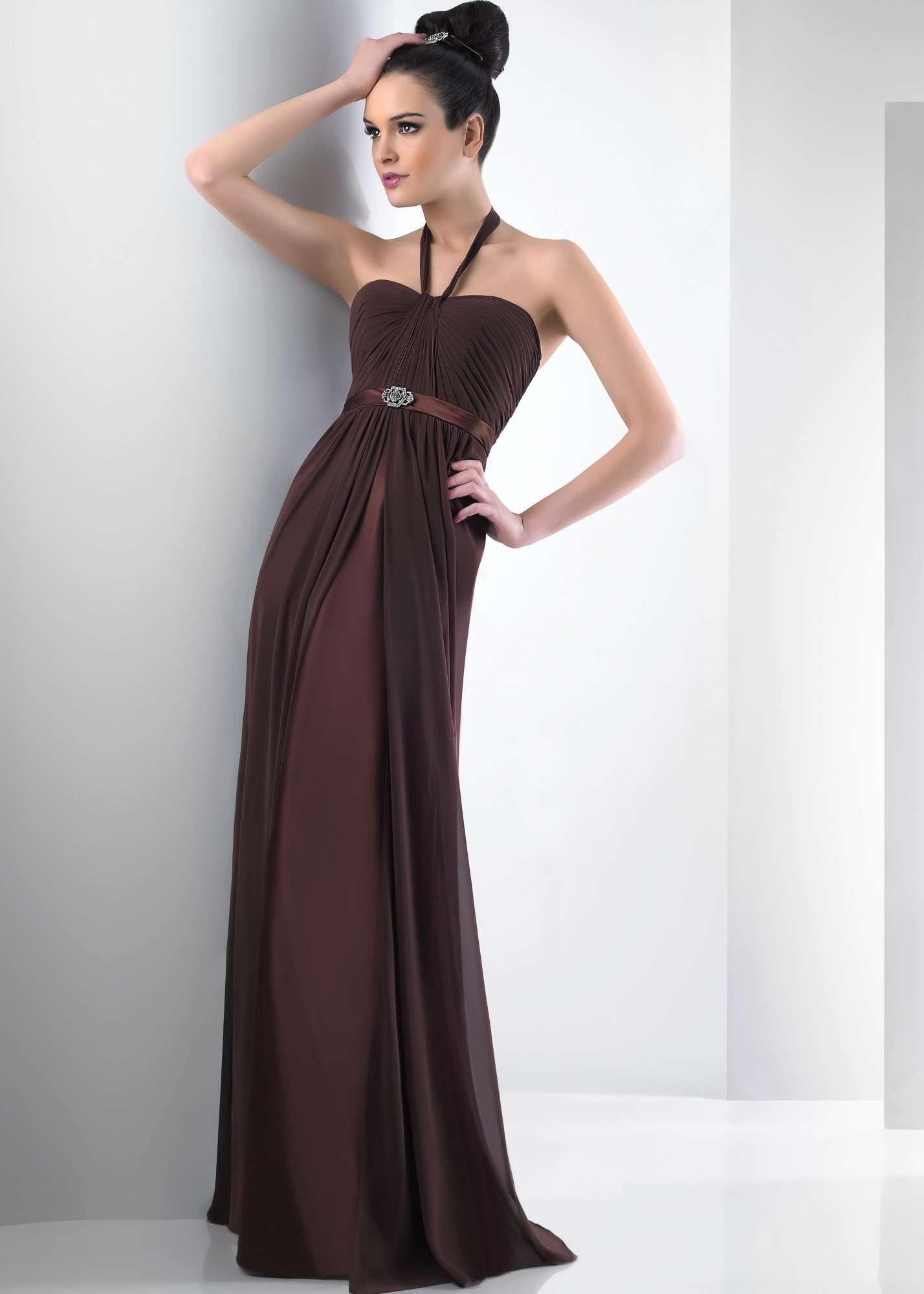 Bari Jay 104 / 2013 Chiffon Halter Dress
