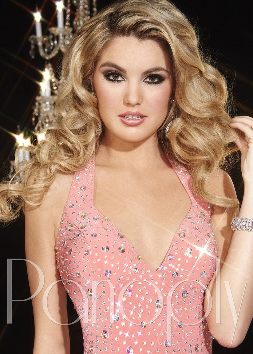 Panoply 14722 Sparkling Matte Jersey Prom Dress