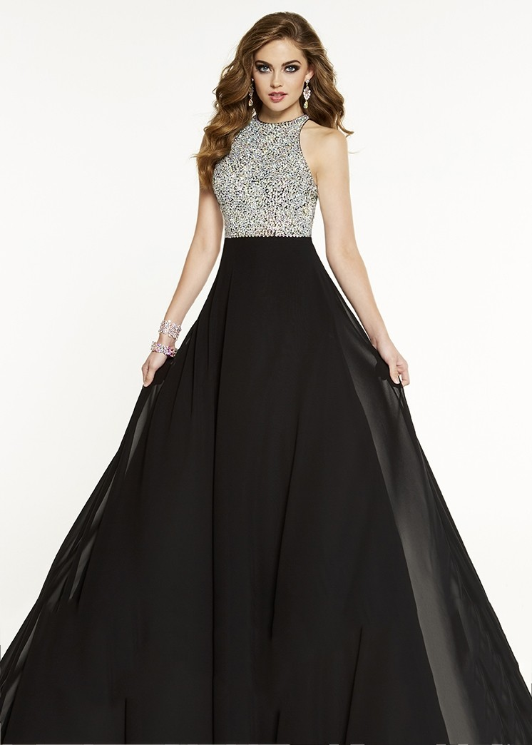 Panoply 14873 Classic A-Line Gown with Sparkly Bodice