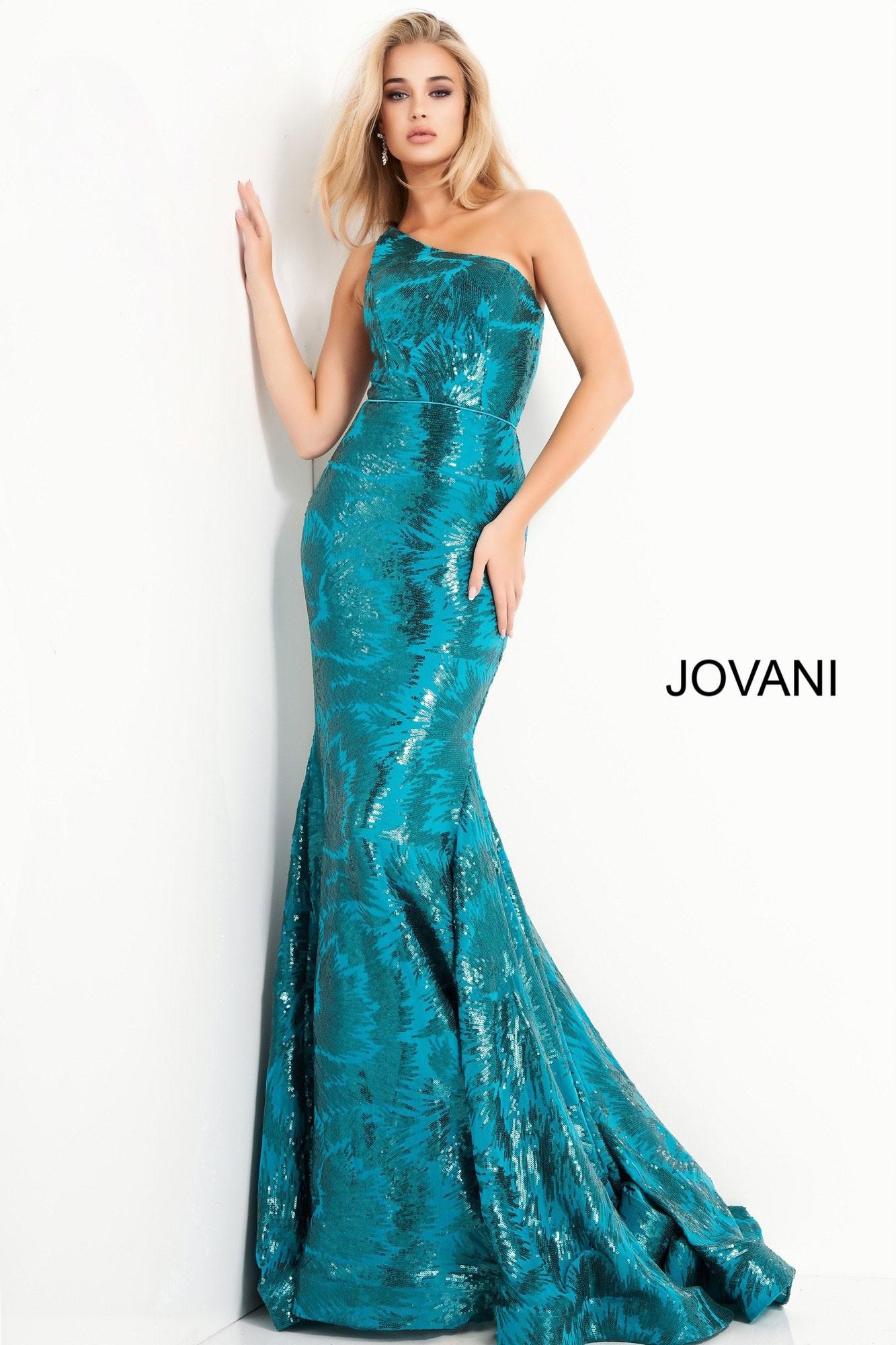 Jovani 1845 Sleek One Shoulder Gown