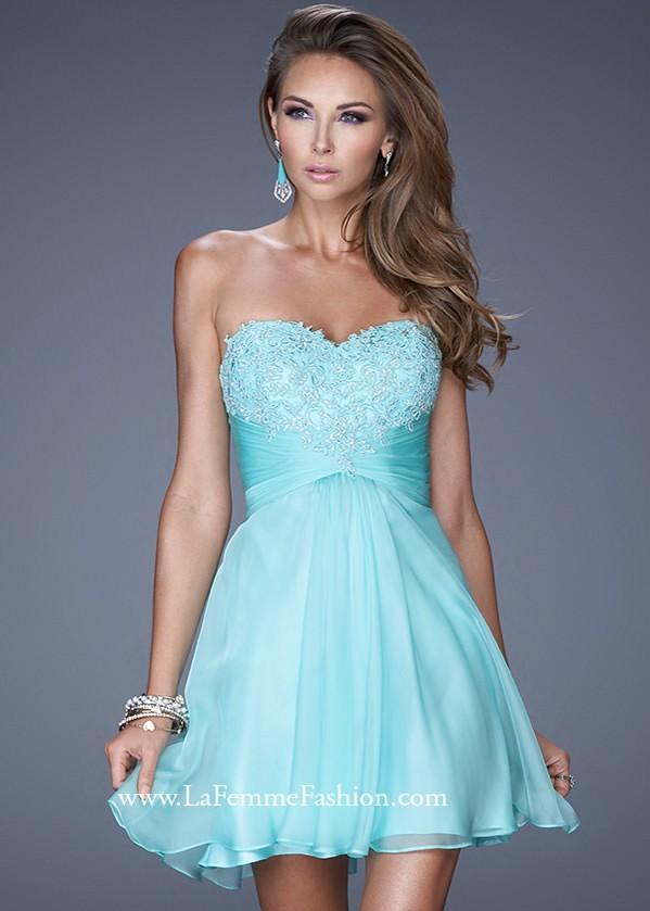 La Femme 20574 Flirty Chiffon Dress