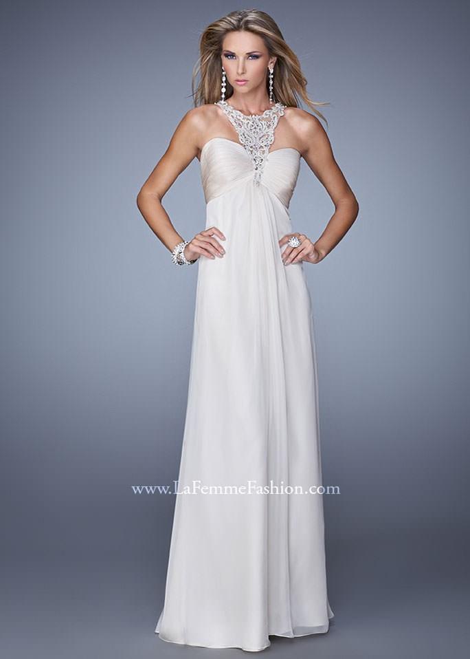 La Femme 21025 Chiffon Halter Gown
