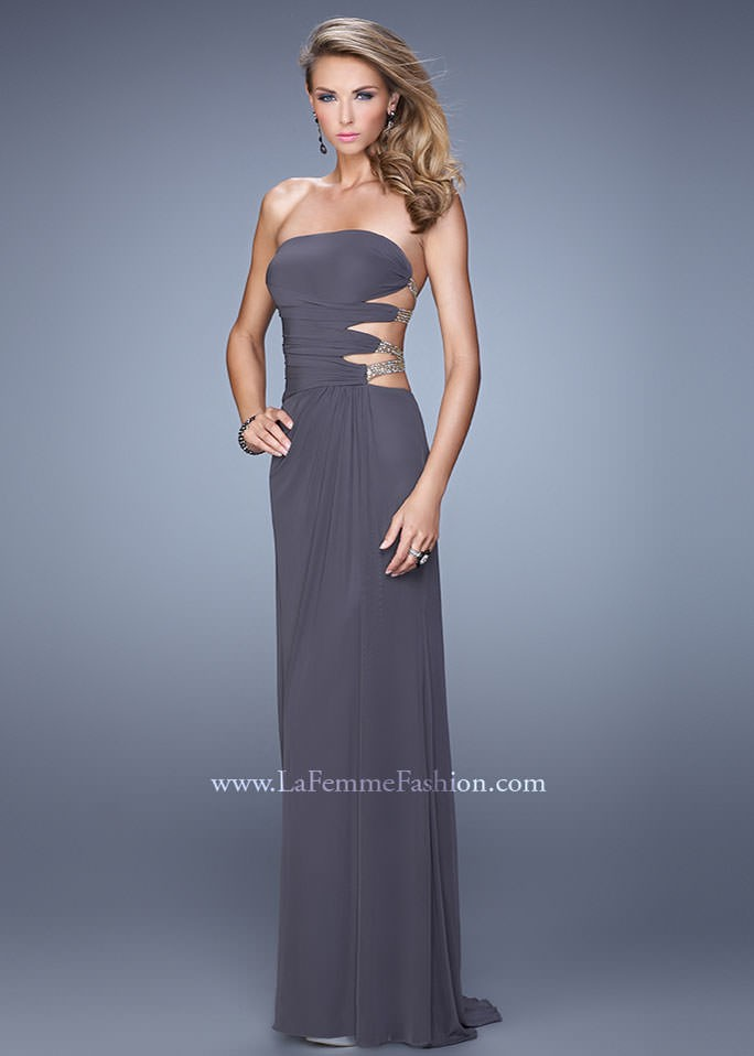 La Femme 21197 Strapless Jersey Gown
