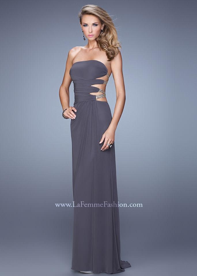 La Femme 21197 Strapless Jersey Gown