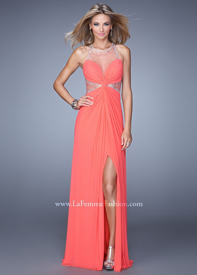 La Femme 21355 Sparkly Jeweled Gown