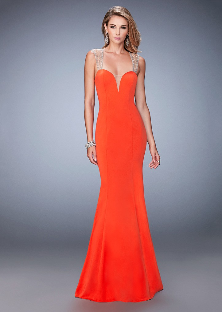 La Femme 22237 Fit & Flare Evening Gown