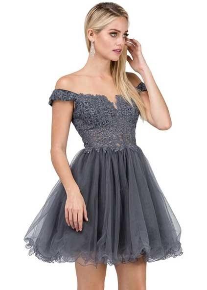 Dancing Queen 2248 Off the Shoulder Party Dress