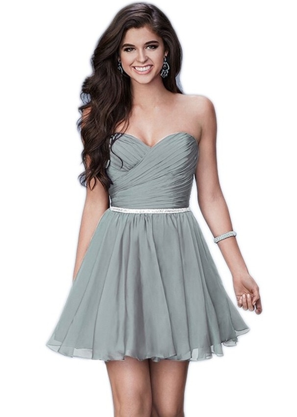La Femme 23482 Ruched Bodice Cocktail Dress