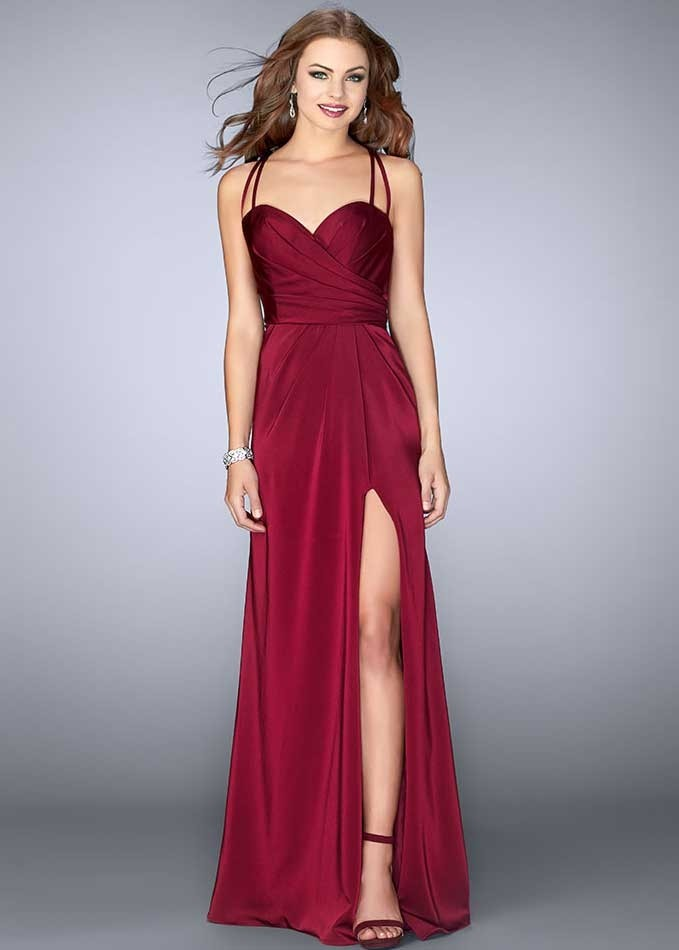 La Femme 24263 Elegant Open Back Long Gown
