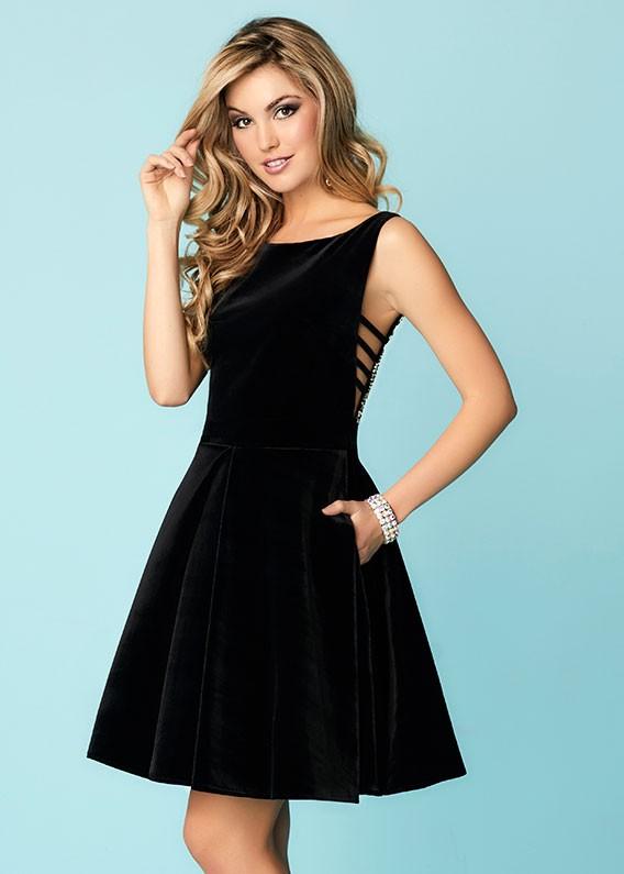 Tiffany 27141 Velvet Short Dress