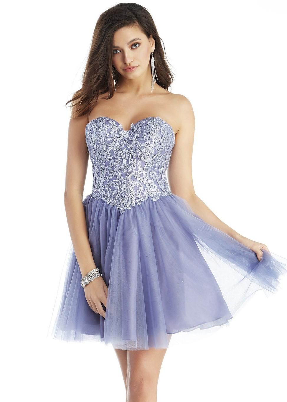 Alyce 3052 Lavender Violet Corset Party Dress