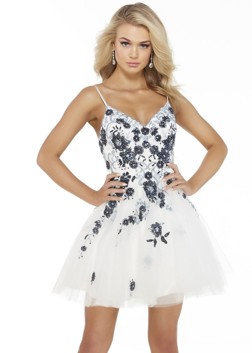 Alyce 3053 Floral Beaded Party Dress