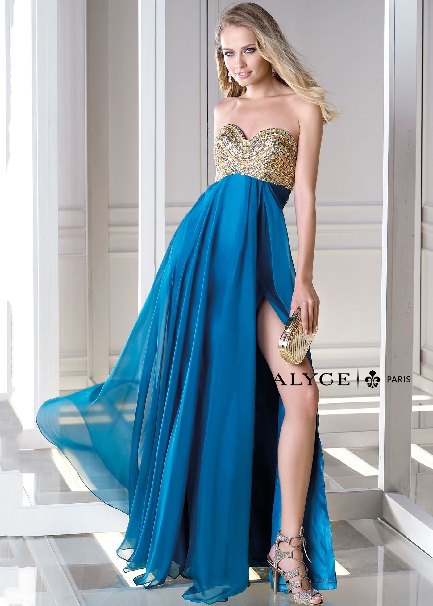 Alyce B'Dazzle 35694 Strapless Dress