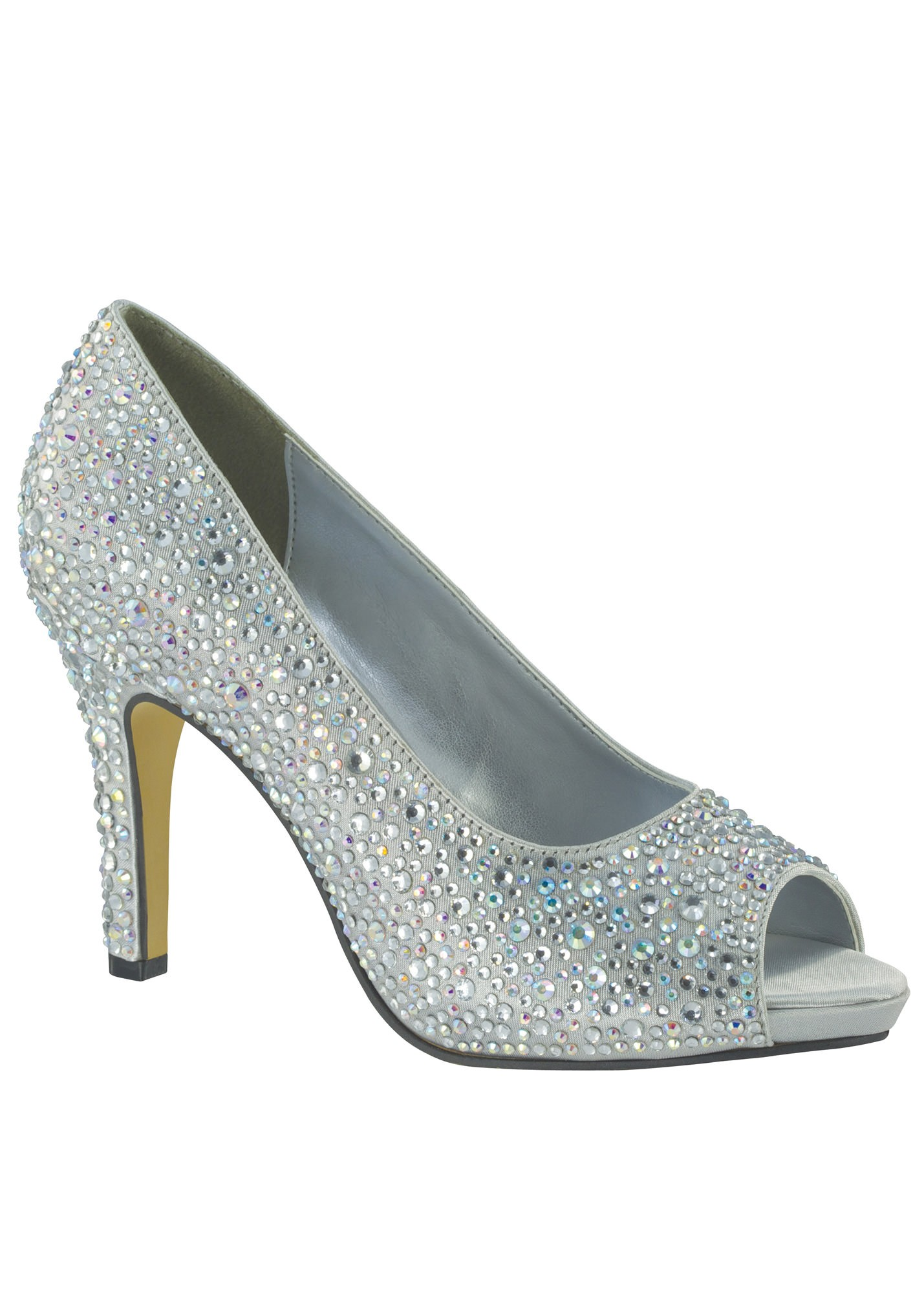 Eliza by Touch Ups Silver Beaded Platform Pumps