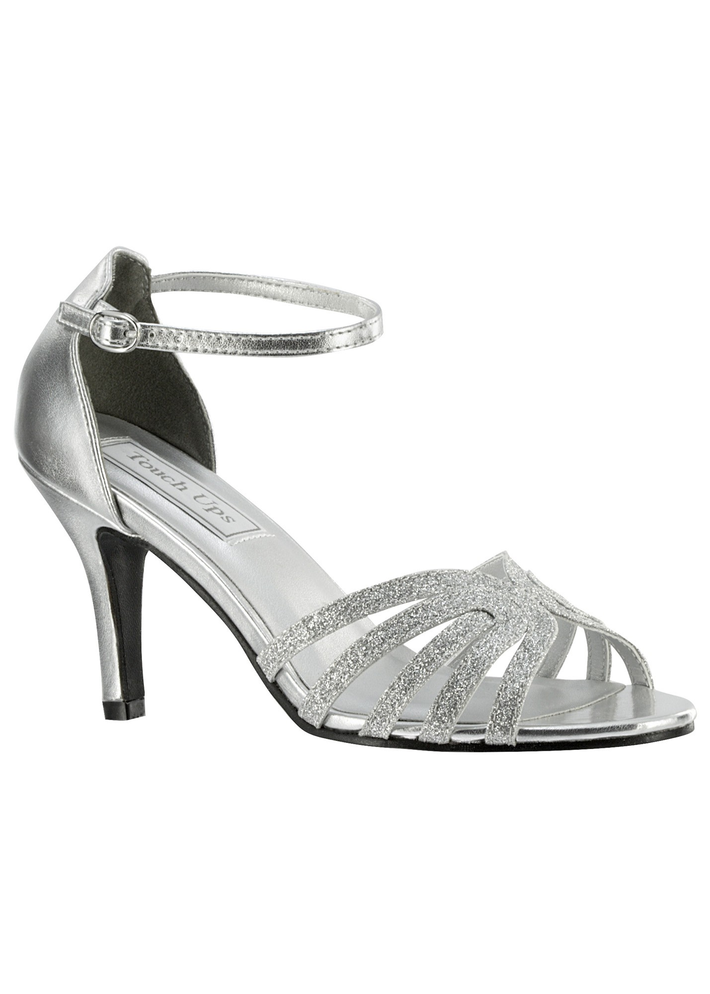 Rapture by Touch Ups Sparkly Peep Toe Sandals
