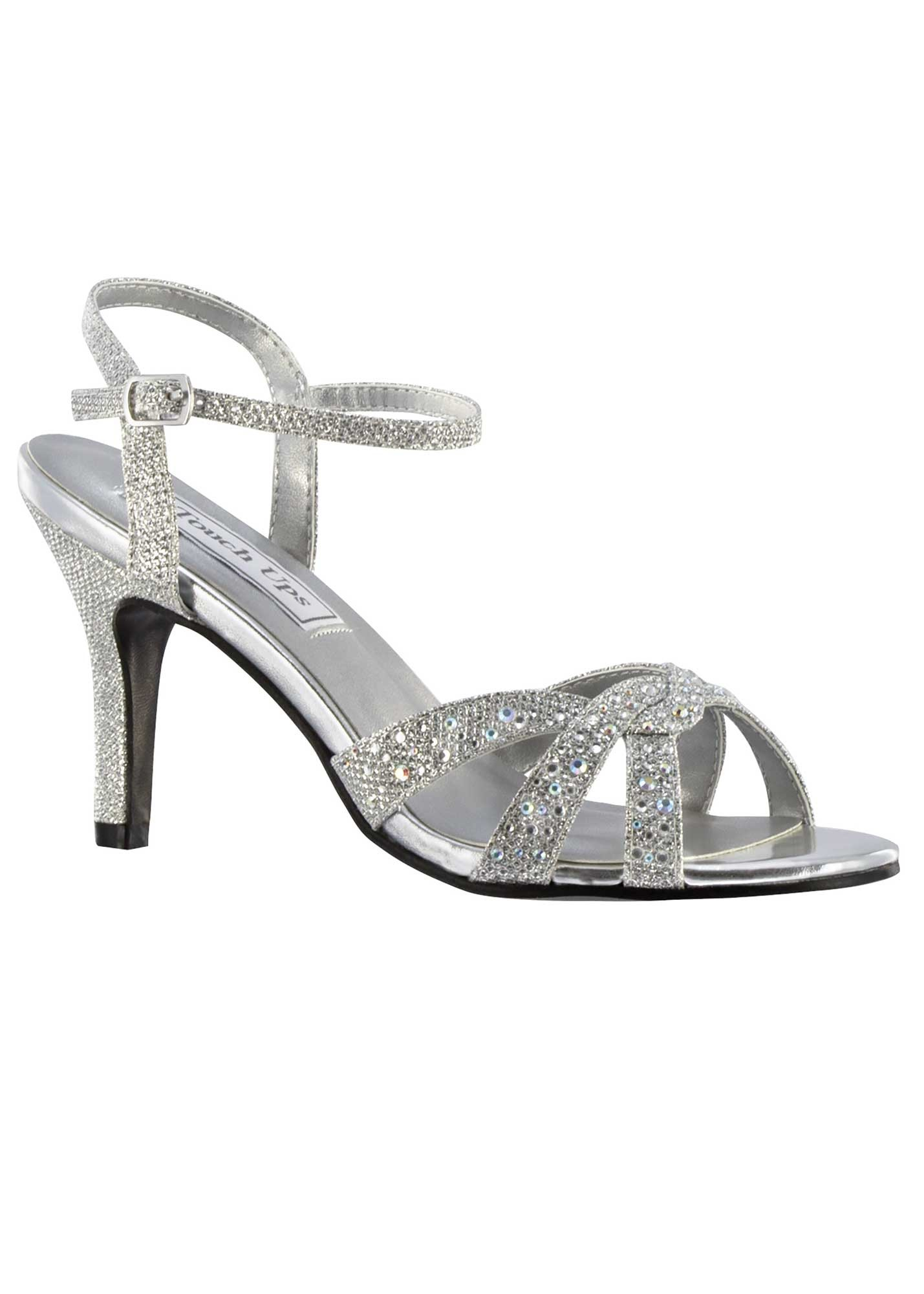 Touch Ups Dulce Silver Jeweled Heels