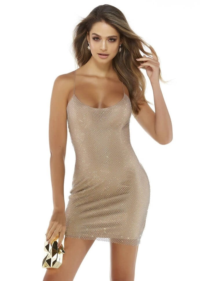 Alyce 4244 Short Crystal Mesh Dress