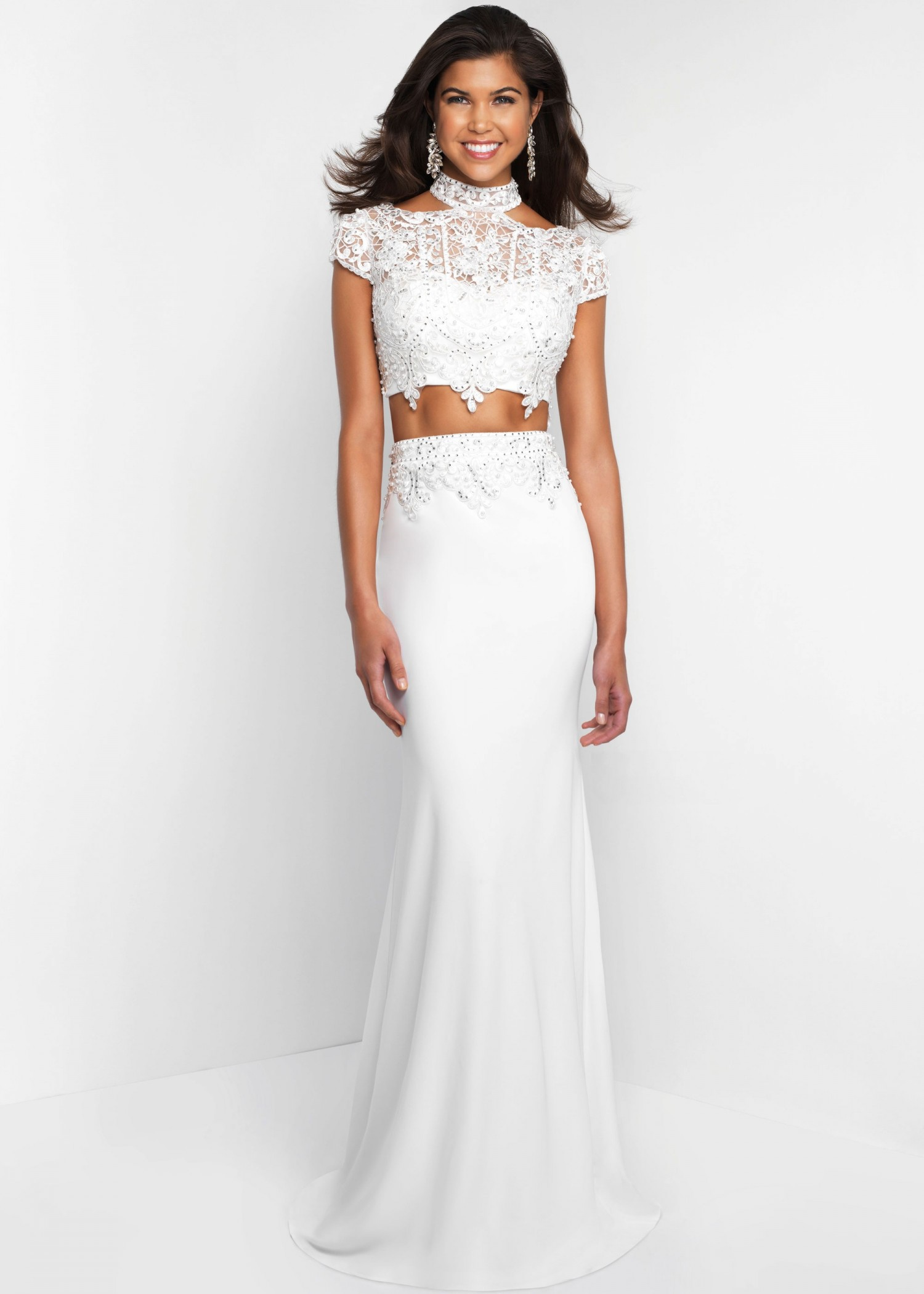 Intrigue 426 Two Piece Cold Shoulder Dress