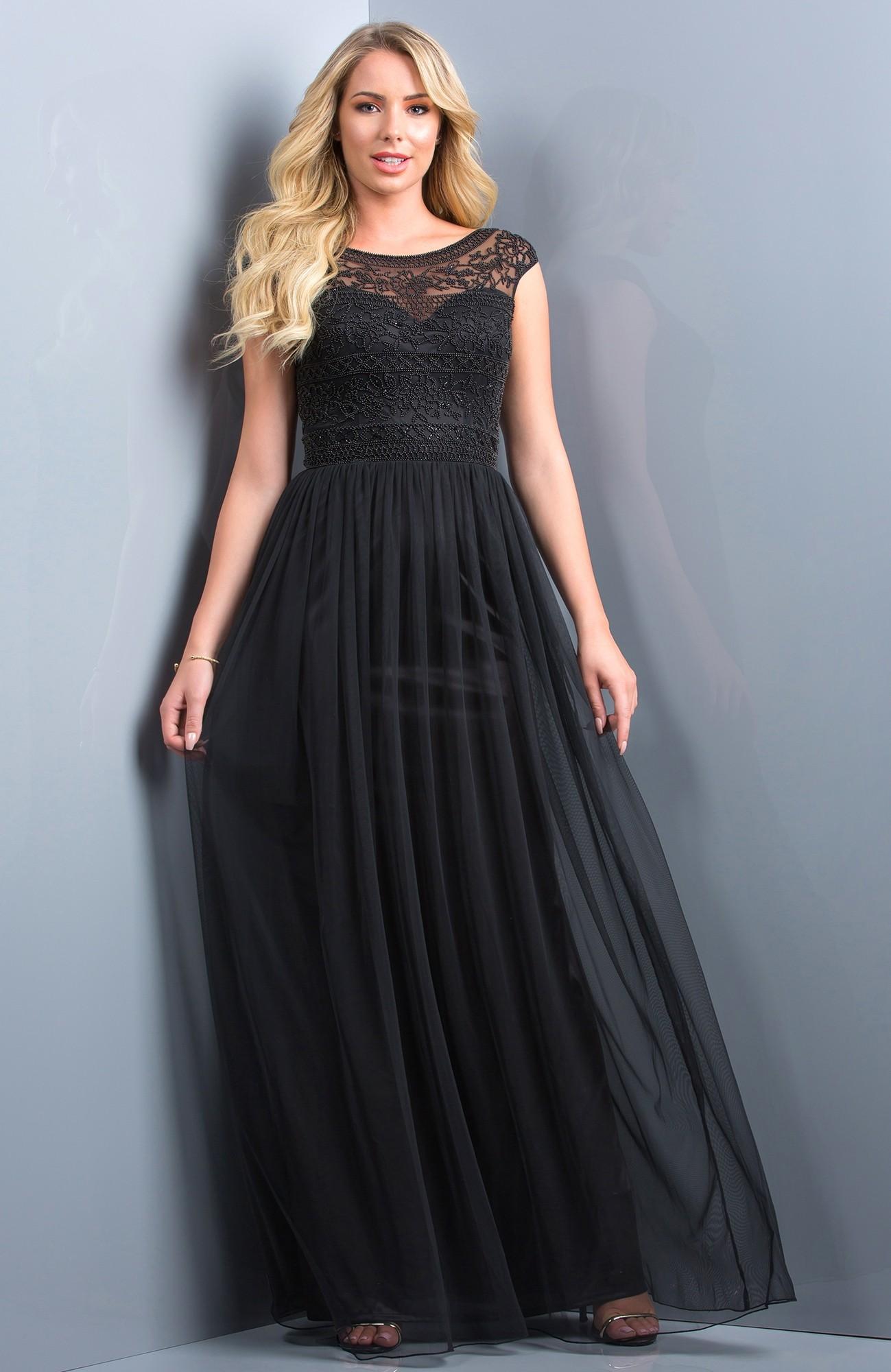 Scala 48821 Cap Sleeve Evening Dress