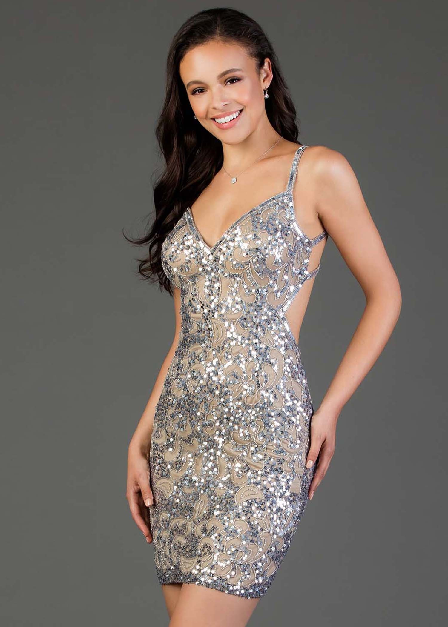 Scala 48891 Sexy Short Beaded Dress