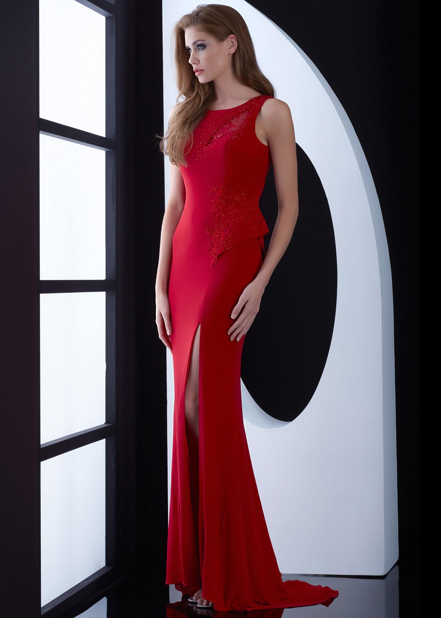 Jasz Couture 5479 Fierce Jersey Gown