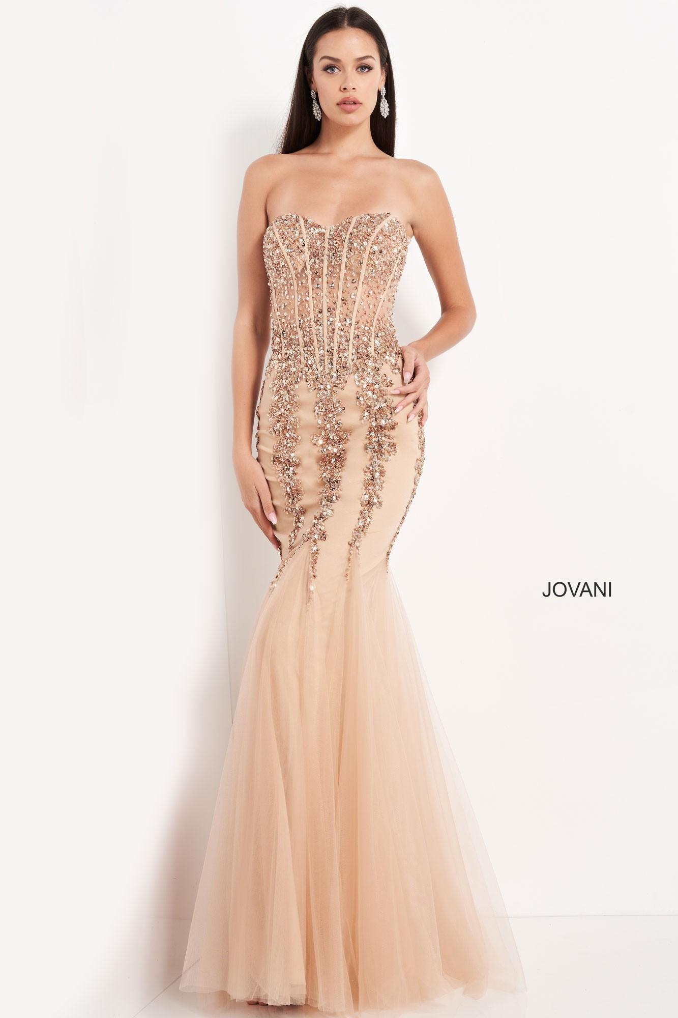 Jovani 5908 Beaded Mermaid Dress