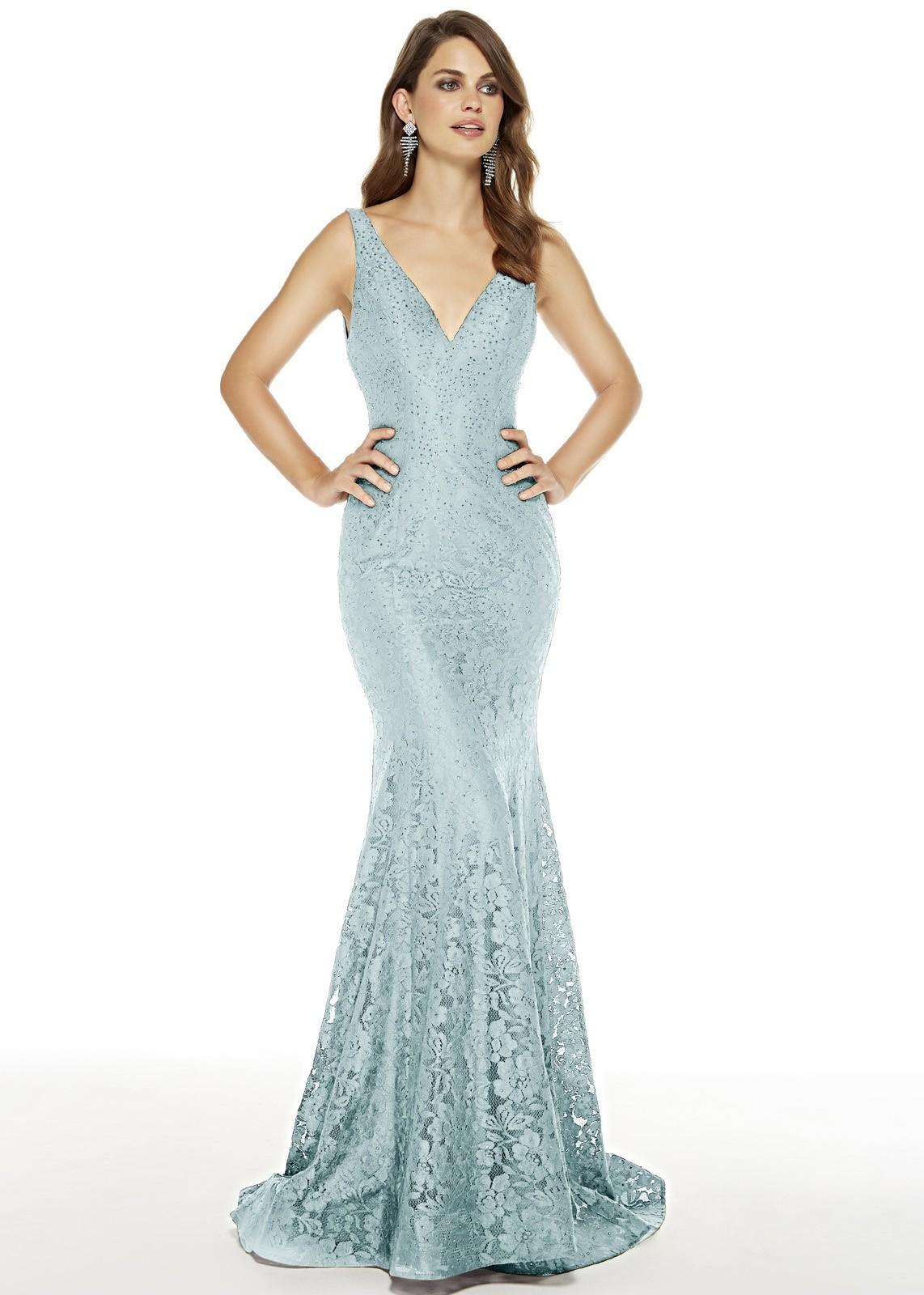 Alyce 60654 Stretch Lace V-Neck Dress