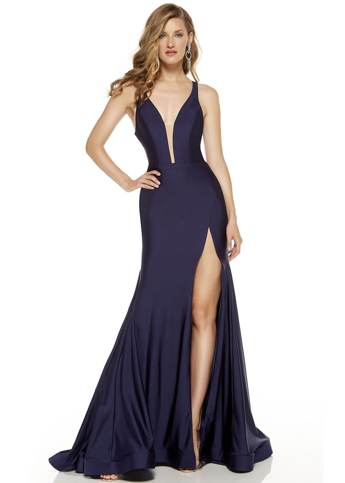 Alyce 60769 Jersey Gown with Slit