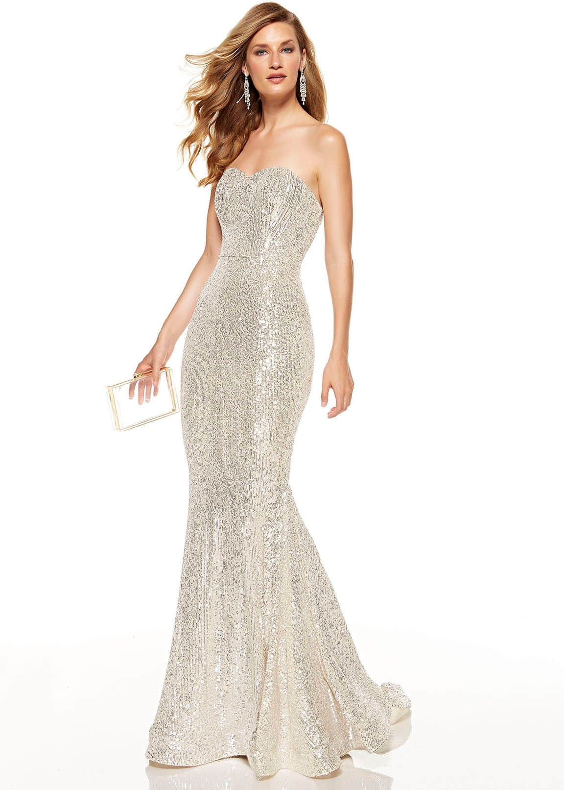 Alyce 60809 Strapless Sequin Mermaid Gown