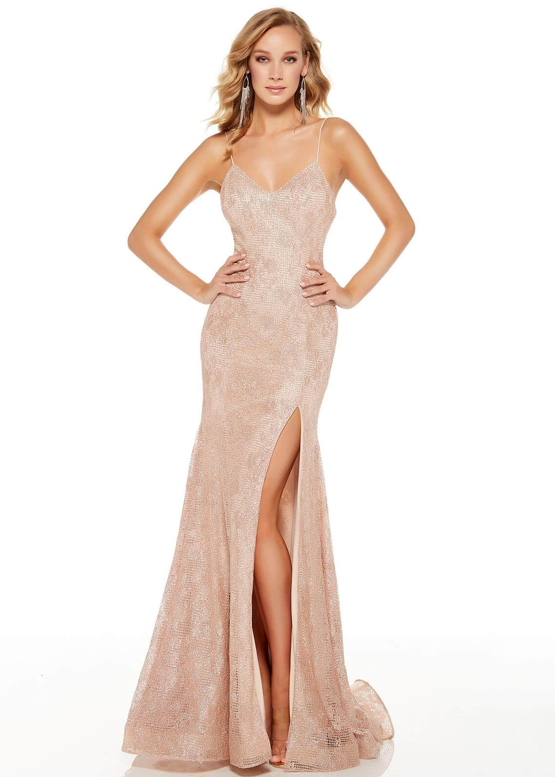 Alyce 60817 Glitter Lace Evening Gown