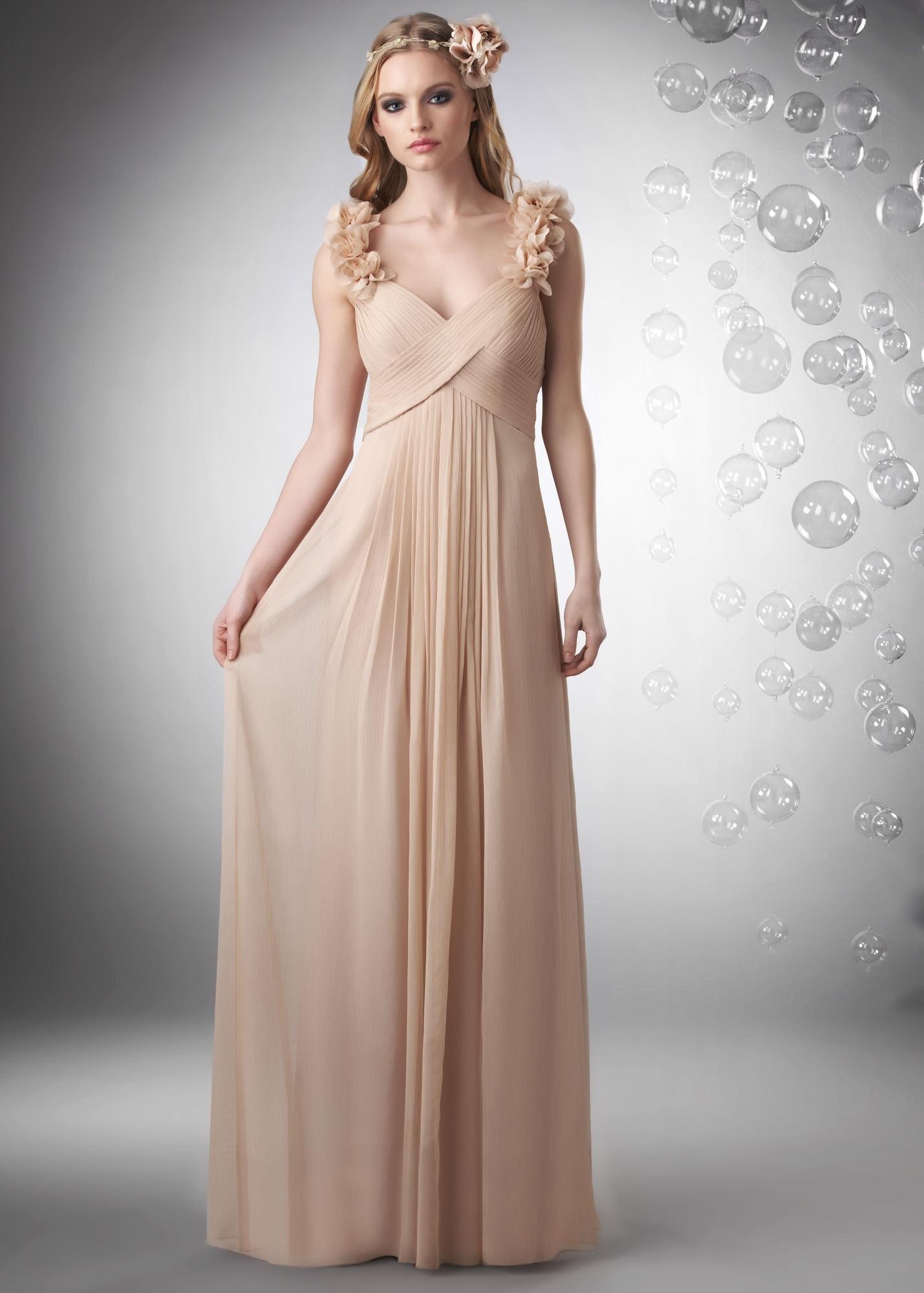 Bari Jay 702 Ruched Chiffon Gown