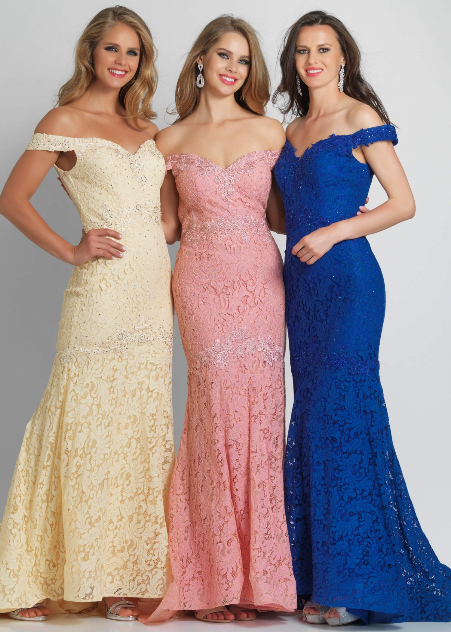 Dave and Johnny A7227 Lace Mermaid Prom Dress
