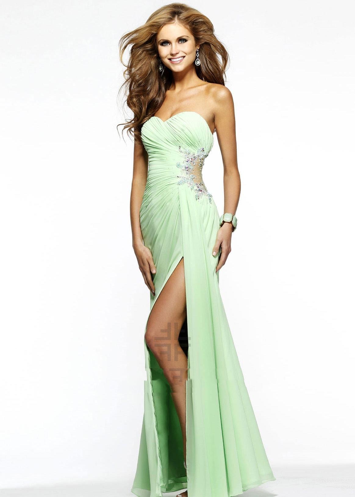 Faviana 7307 Chiffon Evening Gown