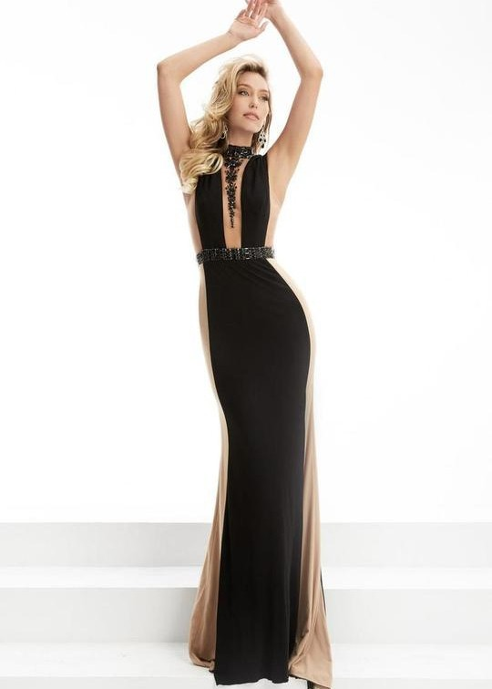 Jasz Couture 5905 Black Sexy Evening Gown