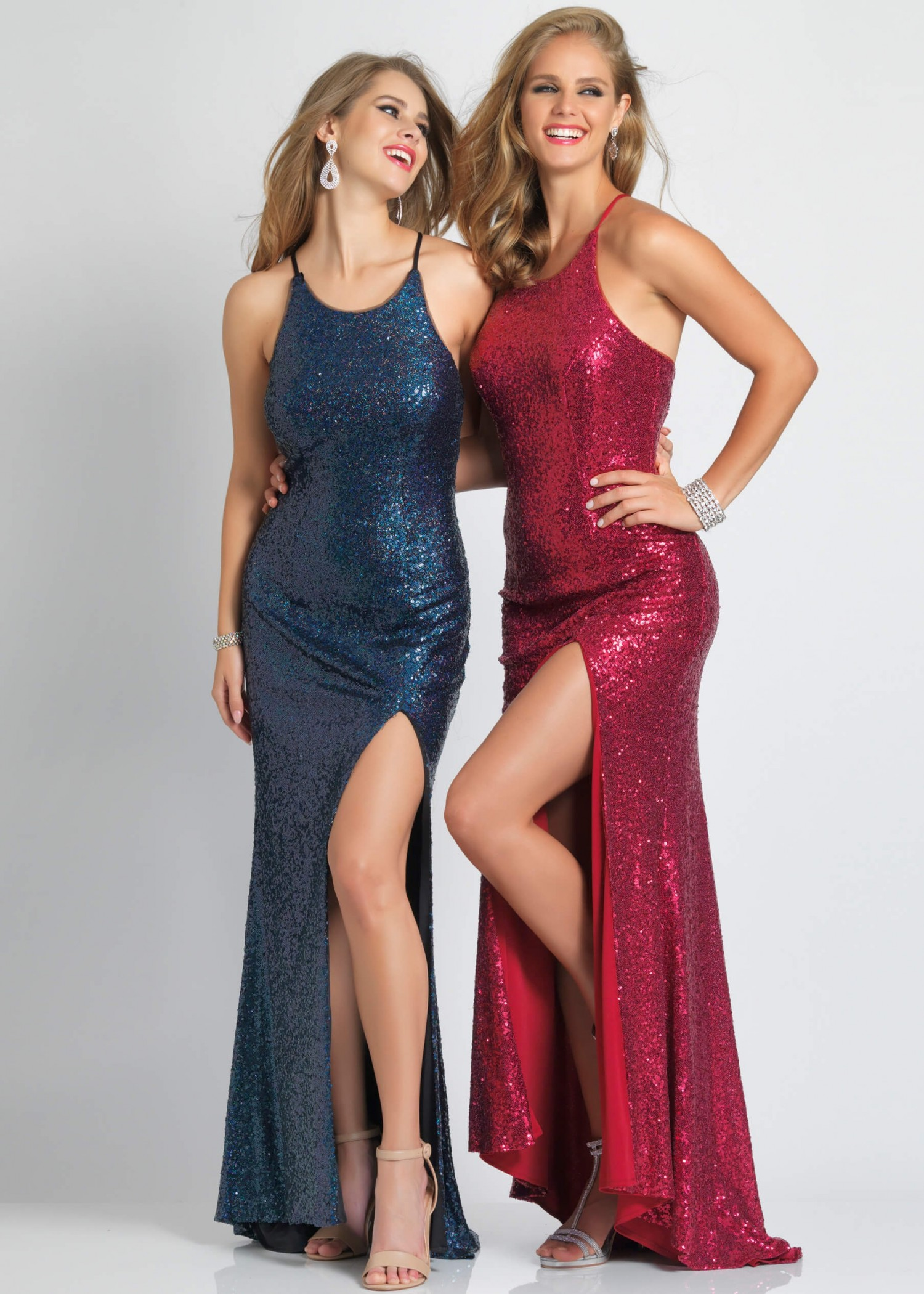 Dave and Johnny A7574 Sequin Prom Dress