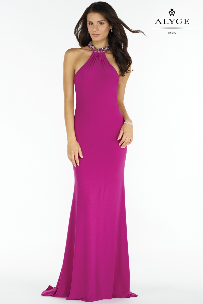 Alyce 8008 High Neck Jersey Gown