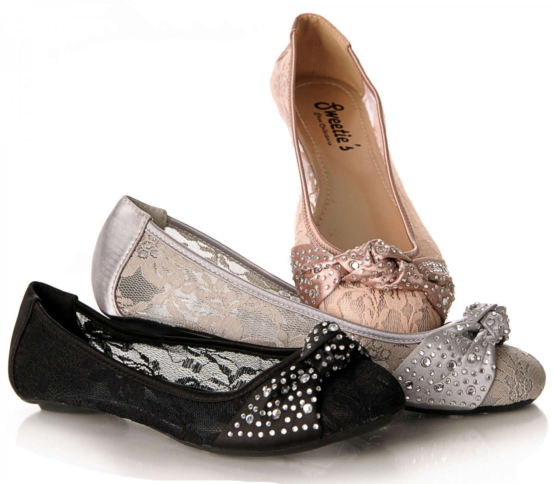 Sweetie's Ann Lace Ballet Flats