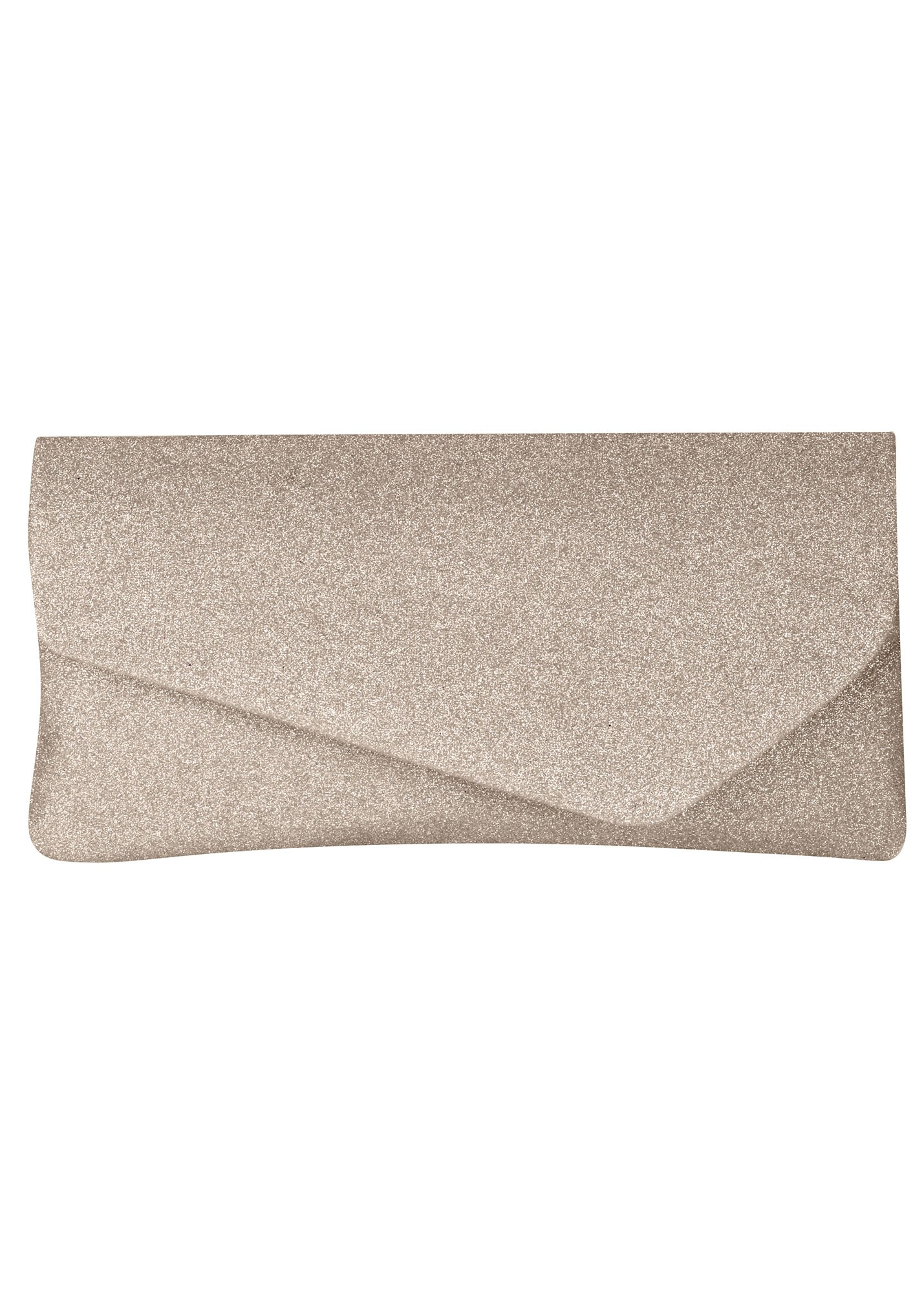 Marcy Champagne Glitter Clutch