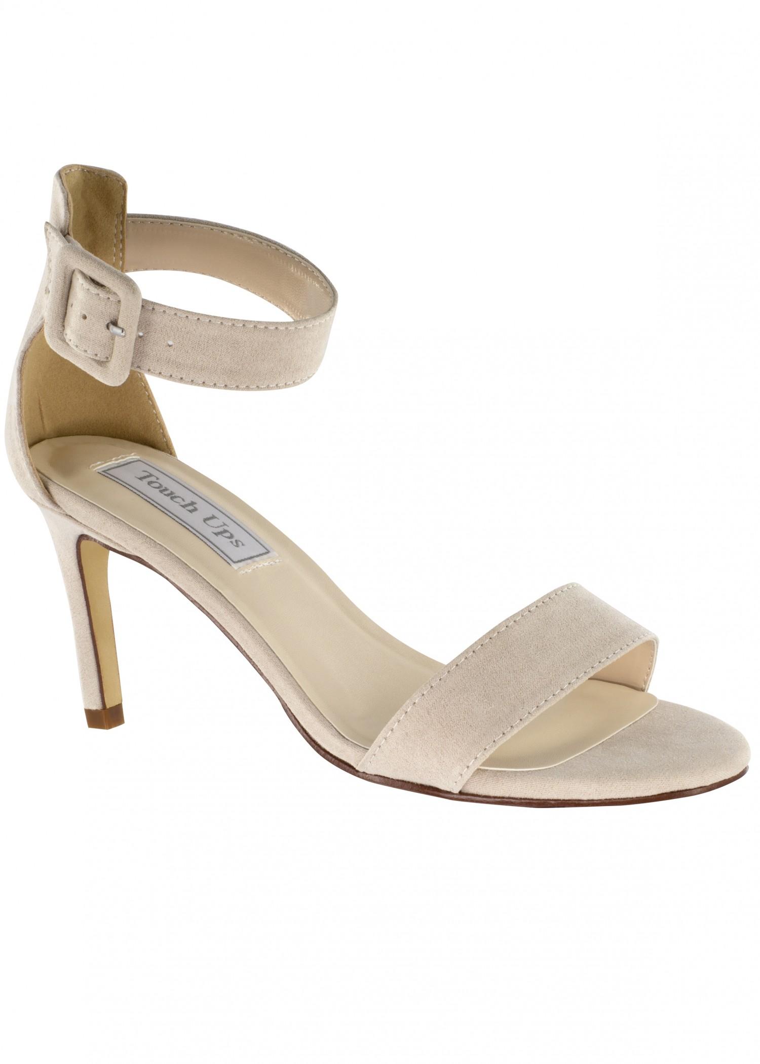 Brenda Beige Low Heel Sandal