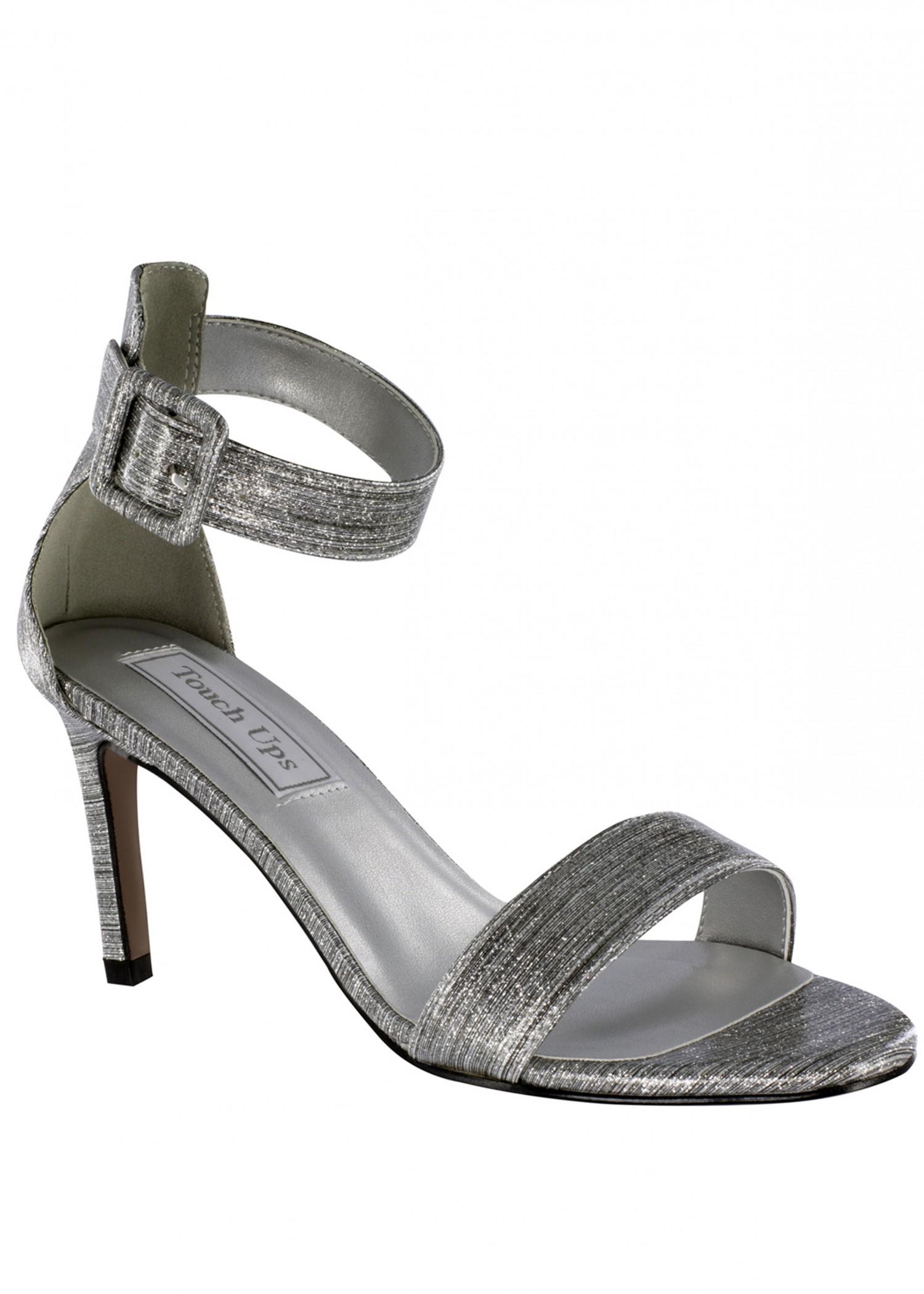 Brenda Silver Ankle Strap Sandal