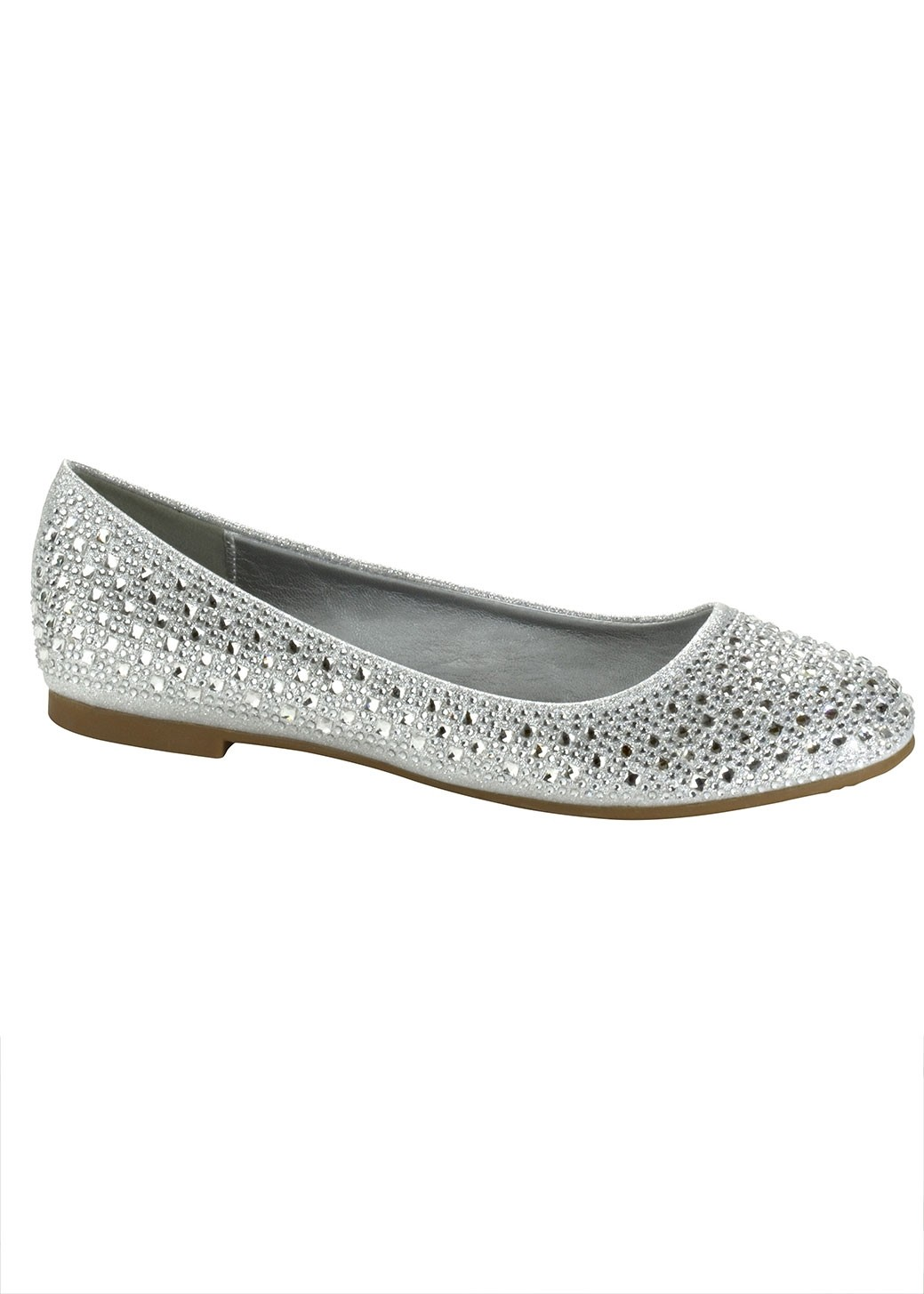 Silver Shimmer Flats