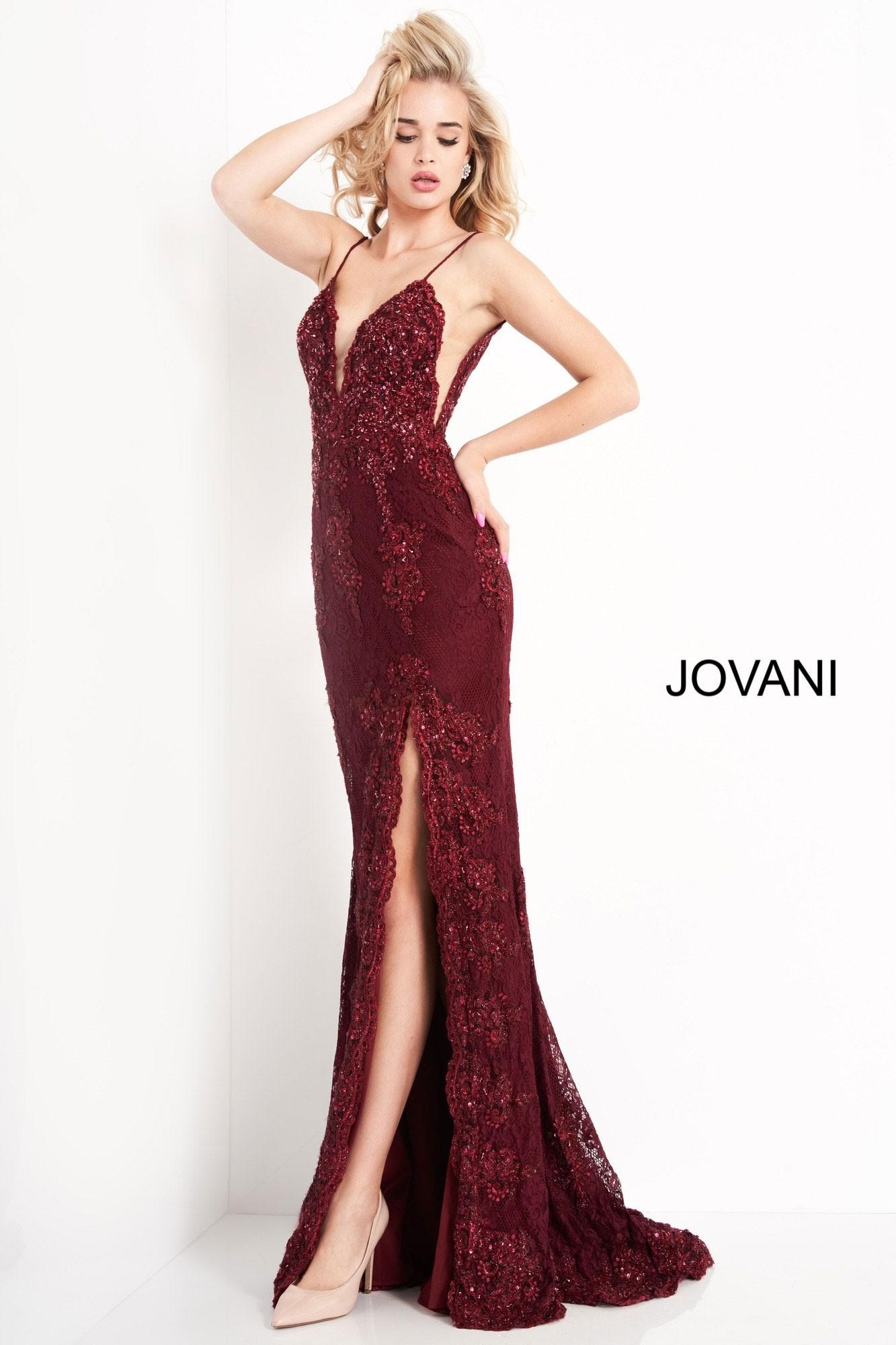 JVN by Jovani JVN00864 Embellished Lace Prom Dress