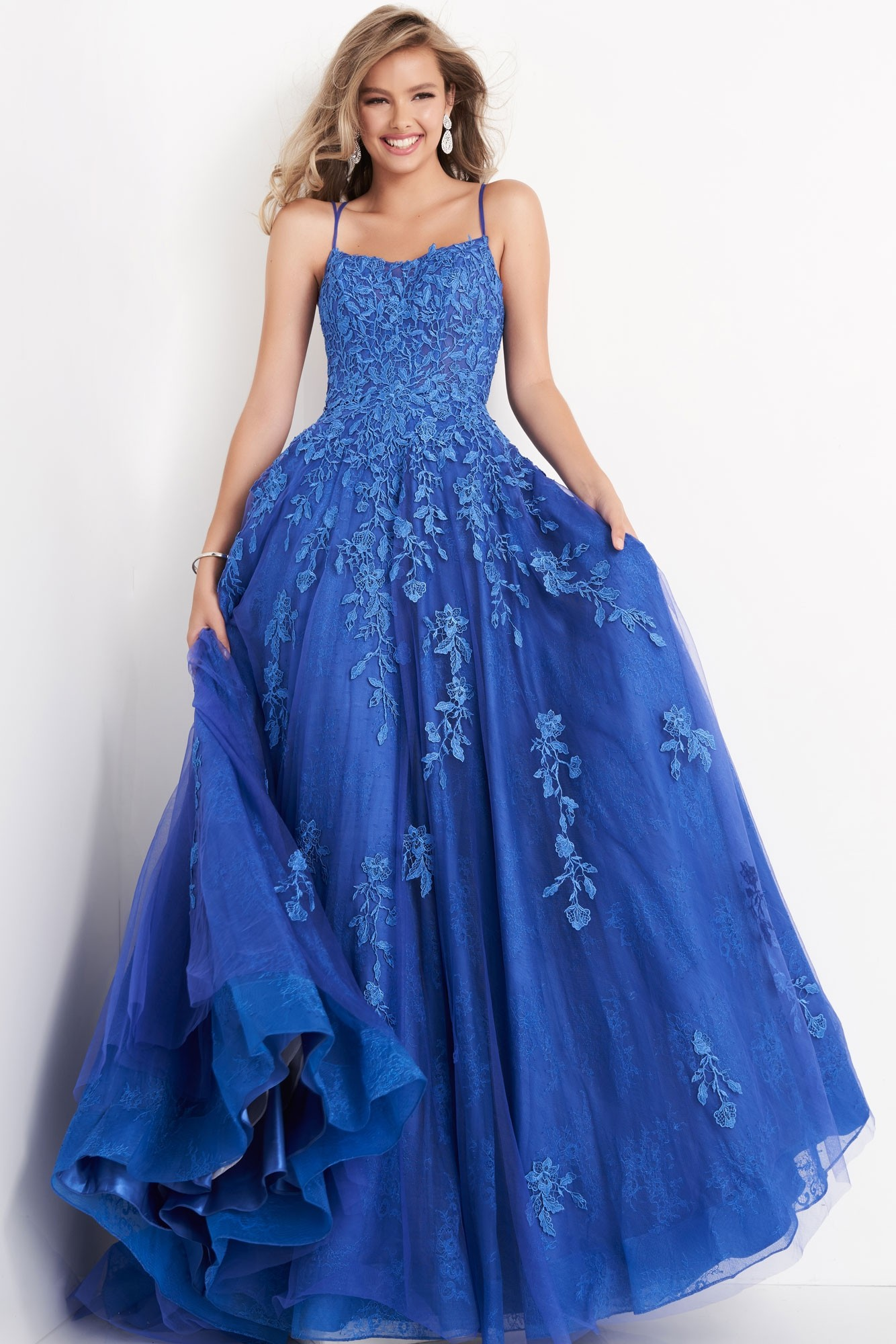 JVN by Jovani JVN06644 Embroidered Lace Ball Gown