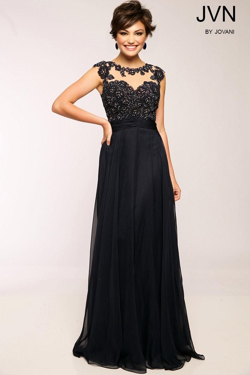 JVN by Jovani JVN24407 Elegant Chiffon Gown